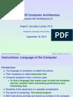 Undergrad Instruction Set