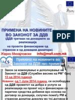 2 - TACSO - Novini Vo Zakonot Za DDV