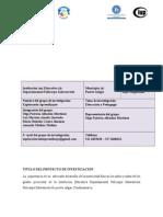 FORMATO PROYECTO DE INVESTIGACIÓN_EXPLORANDO APRENDIZAJES_ 2015.doc
