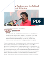 Parliamentary Elections and the Political Emancipation of Sri Lanka