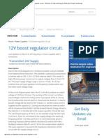 12V Boost Regulator Circuit