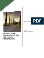 Factores de La Contaminacion de Lima Metropolitana