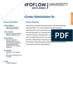 Informatica Administrator 9x Training Data Sheet