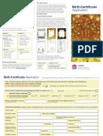 Apply for Birth Certificate (Australia)
