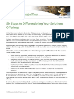 Six Steps to Differentiating Your Solutions Offerings