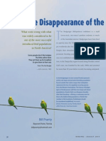 The disappearance of the Budgerigar from the ABA Area