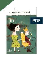 Eugene Ionesco Le Roi Se Meurt
