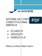 SISTEMA DE CONTRO CONSTITUCIONAL