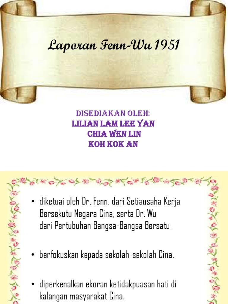 Laporan Fenn Wu 1951