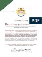 keralia letters patent