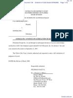 F & G Research, Inc. v. Google, Inc. - Document No. 136