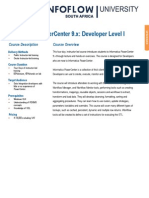 Informatica PowerCenter 9. Developer I Training Data Sheet