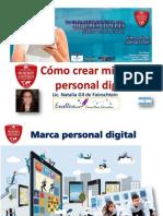 Cómo Crear La Marca Personal Digital por Natalia Gil de Fainschtein