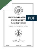 Przegląd Prawniczy Uniwersytetu Warszawskiego nr 1-2/2013