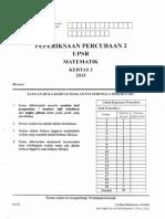 Percubaan UPSR 2015 - Kelantan 2 - Matematik Kertas 2