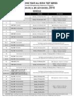 FIITJEE AITS 2015 Schedule