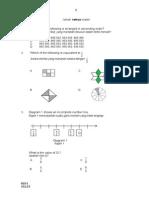 Percubaan UPSR 2015 - Melaka - Alor Gajah - Matematik Kertas 1