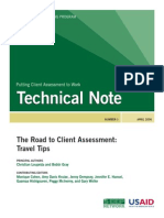 3586 File Road To Client Assessment