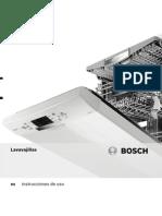 Lavavajillas Bosch - Instrucciones de Uso