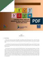 Laporan Indikator MDGs Kabupaten-Kota Tahun 2011-2013