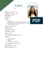 BIODATA OF JESUSs.docx
