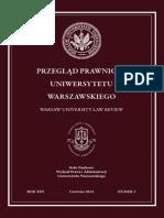 Przegląd Prawniczy Uniwersytetu Warszawskiego nr 2/2014