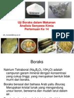 Uji Boraks Makanan