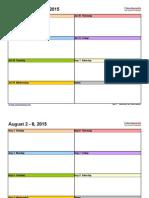 Weekly Calendar 2015-2016