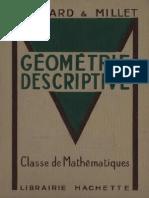 173471078 Maillard Millet Geometrie Descriptive Classe de Mathematiques 1953