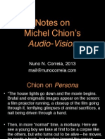 Notes on Michel Chion's Audio Vision