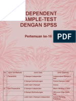 Pertemuan Ke-16 Independent Sample Test Dengan Spss