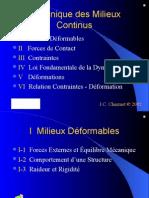 Contraintes Deformations