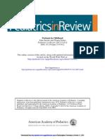 Peretusis Pediatrics in Review 2012 pertusis