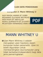 Mann Whitney u