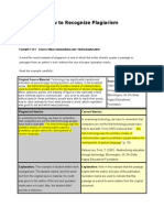 Plagiarism Sample Lessons