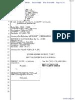 Perfect 10, Inc v. Microsoft, Inc et al - Document No. 22