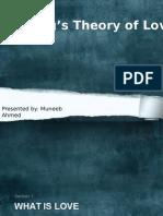 Stenberg's Theory ofLove
