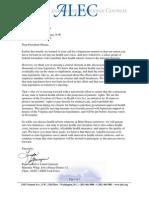 2 23 10 Letter to President Obama