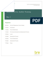 BREEAM in-Use Auditor Training Agenda - 2 Day Course (1)
