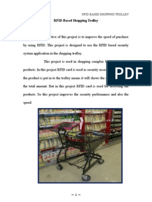 RFID Based Shopping Trolley Project Report | Pic