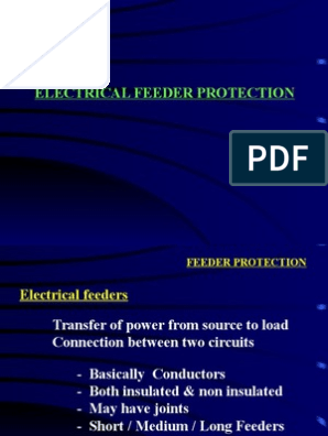 Feeder Protection | Relay | Electrical Equipment