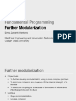Modularization, Cohesion and Coupling