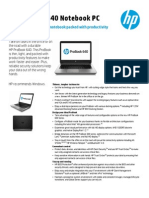 US CA English HP ProBook 640 Datasheet