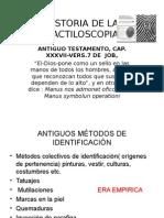 Historia de La Dactiloscopia