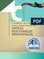 Cuaderno de Trabajo para Capacitación de Juntas Electorales Municipales, 2015 - TSE de Guatemala