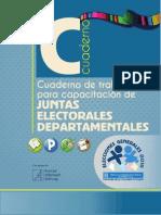 Cuaderno de Trabajo para Capacitación de Juntas Electorales Departamentales, 2015 - TSE de Guatemala