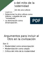 Crítica Del Mito de La Modernidad