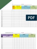 Listado de Asistencia Del 1 Nivel 2014