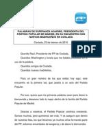 Discurso Presidenta Encuentro Nuevos Madrileños Coslada 23 feb 10