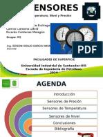 Sensores de Temperatura, Presión y Nivel